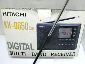 HITACHI KH-D650 DIGITAL MULTI BAND RADIO RECEIVER SHORT WAVE FM MW SW1 SW2 PLL