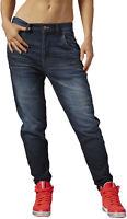 Reebok Denim Cargo Joggpants bequeme Damen Jogging-Hose in Jeansoptik Blau