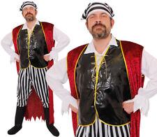 Para Hombre Pirata Disfraz Adulto Disfraz Caribe Bucanero Traje L XL 2XL