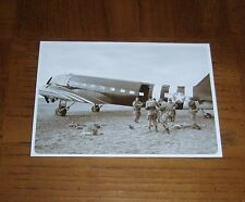 VINTAGE POSTCARD - US ARMY PARATROOPERS GETTING READY TO JUMP ON D-DAY - WWII