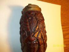 Rare German Wood Hand Carved Wanut Pipe - ?