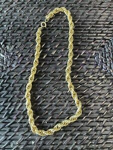 Gold Necklace Womens Heavy Not Stamped Deceased Estate