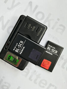 BL-5CB battery + LCD universal charger for NOKIA 1050 1000 1280 1800 105 1616