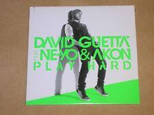 RARE CD PROMO 1 TITRE / DAVID GUETTA FEAT. NE YO & AKON / PLAY HARD / NEUF CELLO