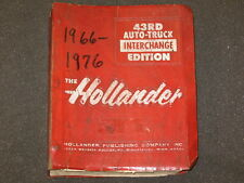 New ListingHollander 43Rd Edition Auto-Truck Interchange Manual 1966-1976 Very Used
