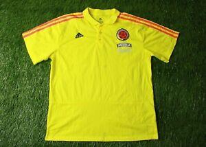 COLOMBIA TEAM 2018/2019 FOOTBALL POLO SHIRT JERSEY TRAINING ADIDAS ORIGINAL