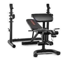 NEW Weider Golds Gym XRS 20 Olympic Workout Bench  w/ Independent Squat Rack