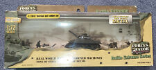 2007 Unimax Forces of Valor 1:72 US M4A1 Sherman & Soldiers Set #98600