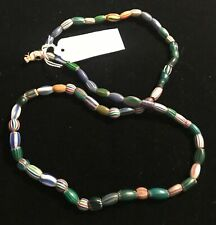 """Vintage Trade Beads African Italy Strand Venetian Striped 30"""" #6"""