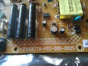POWER SUPPLY TV PHILIPS 715G5778-P02-000-002S REF:99650004042 NEUVE