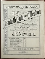 Merry Maidens Polka for the Piano by J. E. Newell – Pub. Early 1900's