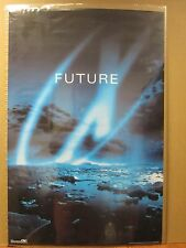 """vintage The X Files Tv series """"FUTURE"""" poster 1998 6439"""