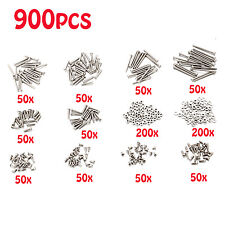 900pcs M2 Phillips Round Head Self Tapping Screw Bolt Gasket Assortment Kit Set