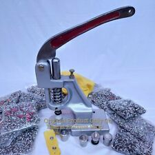 Snap Pearl Buttons Hand Press Machine With 2 Dies and Free Buttons Multi Colors