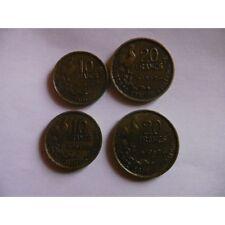 Lot de 4 pieces 10F et 20F Guiraud-1952 et 1952B-ETAT TTB