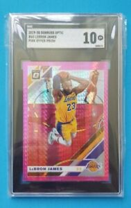 LeBron James 2019-20 Panini Optic Pink Holo Prizm SGC 10 comp PSA 10 🔥🔥