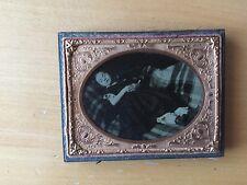 VICTORIAN  DEATH POST MORTEM CHILD: Great Post Mortem Ambrotype - Quarter Plate