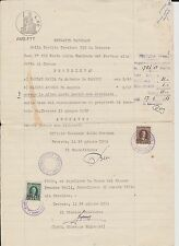 (ITC6) 1953 Italy property document marked paper