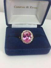 Camrose & Kross JBK Jacqueline Kennedy Faceted Pink Kunzite Sterling Ring-9.25