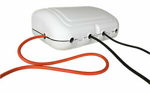 Weatherproof Outdoor Enclosure with 4-Gang 2m Extension Lead