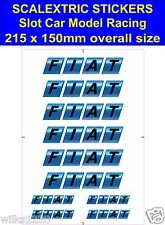Slot car / Scalextric stickers Model Race FIAT Logo Lego self adhesive vinyl