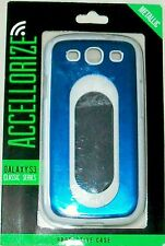 ACCELLORIZE SAMSUNG GALAXY SIII S3 CLASIC SERIES METAL BLUE FINISH COVER NEW