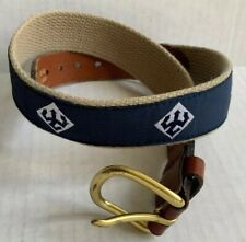 Washington & Lee University Belt, Brass Leather Man, Essex, Ct, Child Size 22