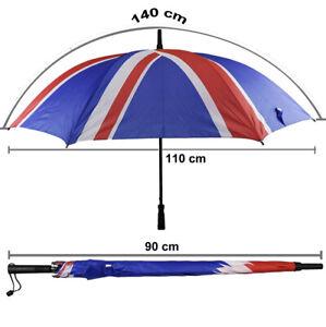 Union Jack UK Flag Auto Open Golf Umbrella