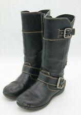 Boc Born Girls Size 11 Youth Black Faux Leather Riding Boots Zipper Ramona Shoe