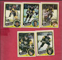 1984-85 TOPPS PITTSBURGH PENGUINS  NRMT CARD LOT
