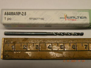 Walter Titex 2.5mm Carbide drill A6489AMP-2.5 X-Treme plus Through coolant Tialn