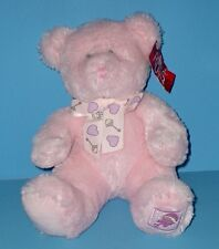Adorable Baby Bear w Rattle Pink Teddy Buffie Plush Stuffed Animal Baby Russ 11""