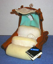 "WARNER BROTHERS HANNA BARBERA FLINTSTONES FLINTMOBILE CAR 8"" PLUSH BEAN BAG TOY"