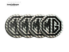 MG ZR ZS ZT Wheel Centres Caps 57mm Badges Logo Cap Badge Black Carbon & Silver