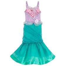 Disney Store Heart shape Jewel ARIEL Costume MEDIUM 7/8