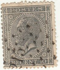 Belgium 1865-67 10c King Leopold I. Gray. Dix Cent. Used