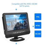 """9.5"""" Mini TFT LED HD Digital Analog Fernseher Tragbar TV VHF UHF für Auto ❤"""