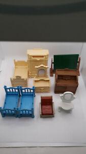 Playmobil, 9 versch. Möbel für Nostalgie Puppenhaus