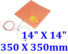 "14"" X 14""  350 X 350mm 800W w/ 3M w/ Thermistor 3D Printer Heat Bed JSRGO Heater"