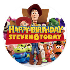 TOY STORY PERSONALISED EDIBLE ICING IMAGE PARTY CAKE TOPPER ROUND