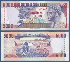 GUINEA BISSAU 5000 Pesos 1993 UNC  P.14 b