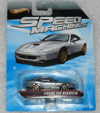 BRAND NEW HOT WHEELS SPEED MACHINES FERRARI 550 MARANELLO SILVER LONG CARD RARE