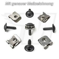 5x Universal Torx Befestigungs Schraube + Halteklammern aus Metall für VW & Audi