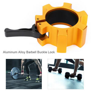 Aluminum Barbell Weightlifting Bar Safety Buckle Lock Clip Clamping Card Sleeve
