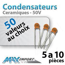 Condensateur céramique 50 volts - Lots multiples, prix dégressif