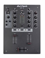 DJ Tech DIFX Professional 2 Channel DJ Mixer with USB and Bluetooth