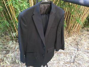 Mens Black Suit Jacket 100 Reg Pants 86R