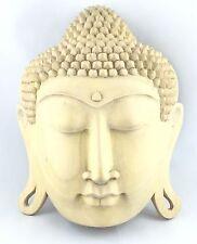 Buddha-Wandmaske aus handgeschnitztem Tropenholz (als Dekoration/Handarbeit)