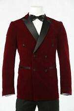 Men Velvet Coat Blazer Jackets Designer Grooms Wedding Tuxedo Casual Dinner