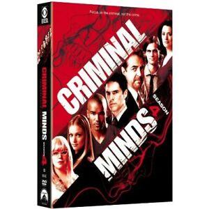 Criminal Minds: Season 4 On DVD With Matthew Gray Gubler Grey Very Good E08